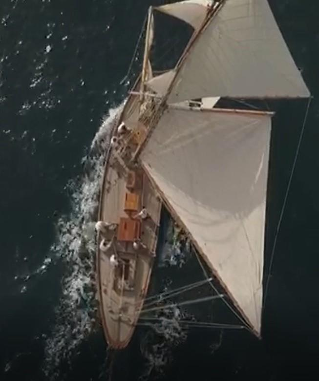 classic craft 50 foot gaff rigged sloop sailboat for sale